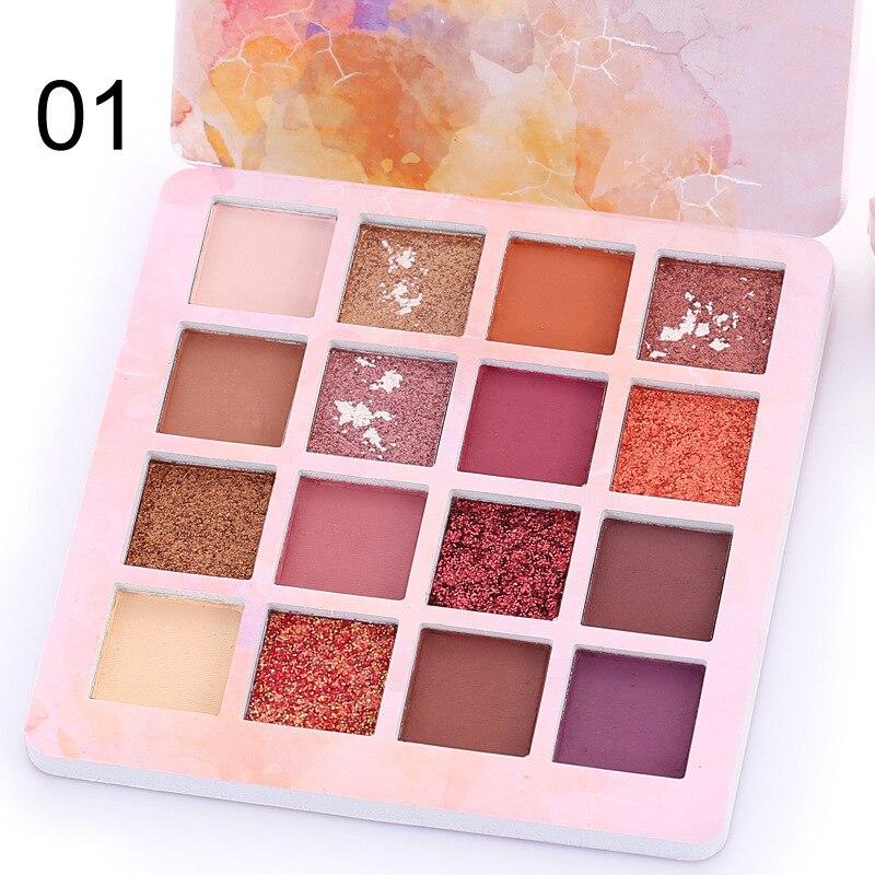 Paleta de maquiagem nude longa duração, cosméticos tslm2 hidratantes, multicoloridos, com glitter e pigmento, à prova dágua