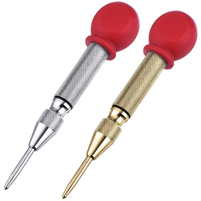 2 Pcs High Speed Center Punch,Center Hole Punch Marker Scriber For Wood,Metal,Plastic,Car Window Puncher Breaker Tool With Cushi