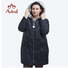 Yeni 2018 kış ceket kadın moda tasarım altın kapşonlu kış ceket kadın sıcak uzun FR-5076
