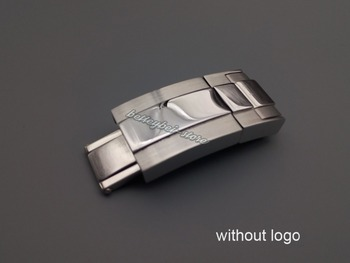 16mm x 9mm New Silver Polished Brushed Solid Stainless Steel Watch Band Buckle Deployment Clasp For Bracelet Rubber Strap