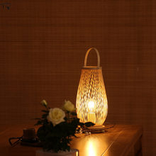 Japanese Southeast Asia Zen Art Bamboo Weaving Table Lamp Bedroom Teahouse Hotel Bedside Cafe Modern Simple Warm Led Desk Light(China)