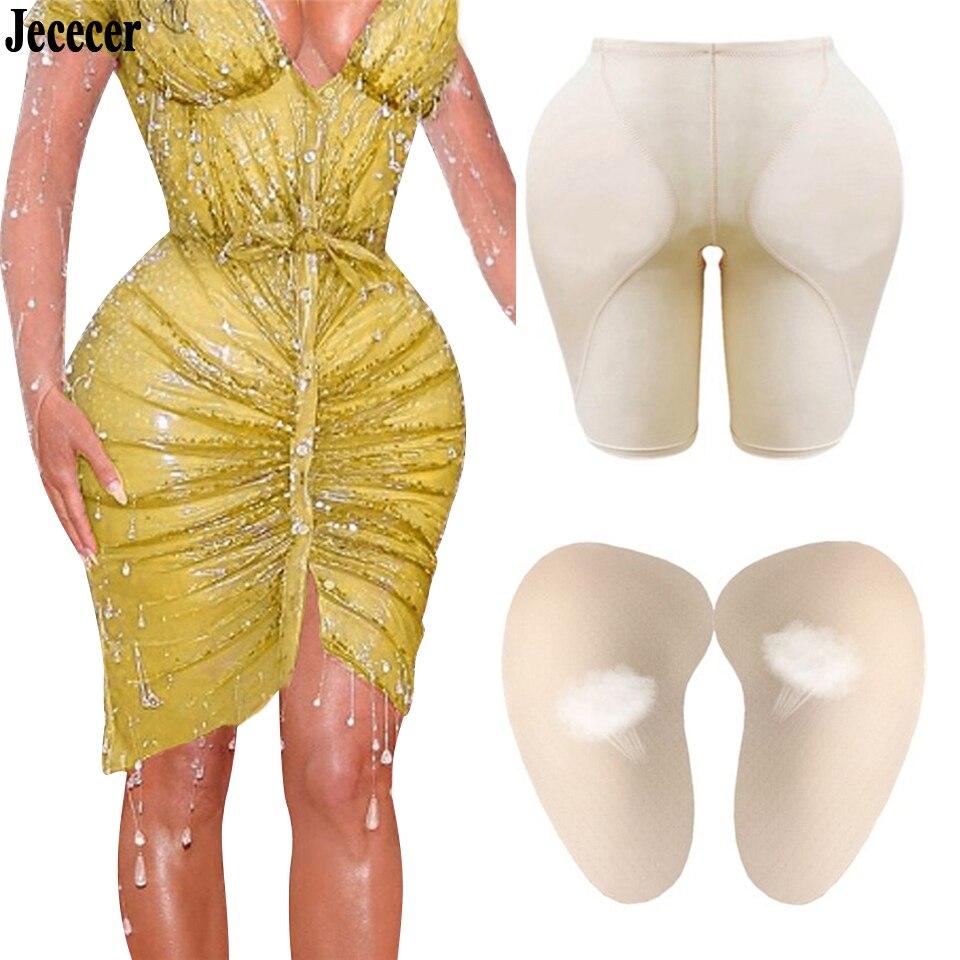 Women Sexy Shaper Panties Butt Lifter Hip Pad Fake Ass Foam Padded Underpants Female Shapewear S - 6XL Nude Black Color