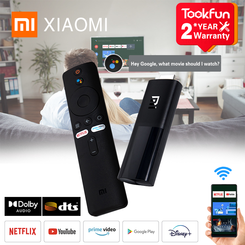 Глобальная версия Xiaomi Mi TV Stick Android 9,0 1080P HD 1 ГБ ОЗУ 8 Гб ПЗУ DTS Dolby Смарт Netflix YouTube Wi-Fi и Google Assistant