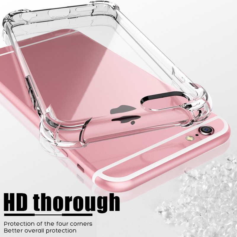 الأزياء صدمات الوفير شفافة سيليكون الهاتف حقيبة لهاتف أي فون 11 X XS XR XS ماكس 8 7 6 6S زائد واضح حماية الغطاء الخلفي