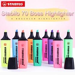 1 szt. Stabilo Textmarker Boss oryginalny 70 zakreślacz dzieci skok kluczowy znak o dużej pojemności kolor mały świeży Marker w Zakreślacze od Artykuły biurowe i szkolne na