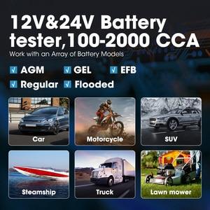 Image 5 - TOPDON BT200 12V רכב סוללה בודק דיגיטלי רכב אבחון סוללה בודק Analyzer רכב לסובב טעינה סורק כלי