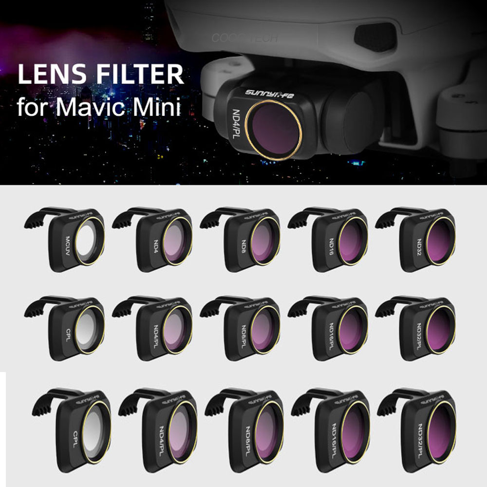 Sunnylife for Mavic Mini Camera Lens Filters UV CPL ND4 NDPL Professional Filter for DJI Mavic Mini Quadcopter Drone Accessories on AliExpress