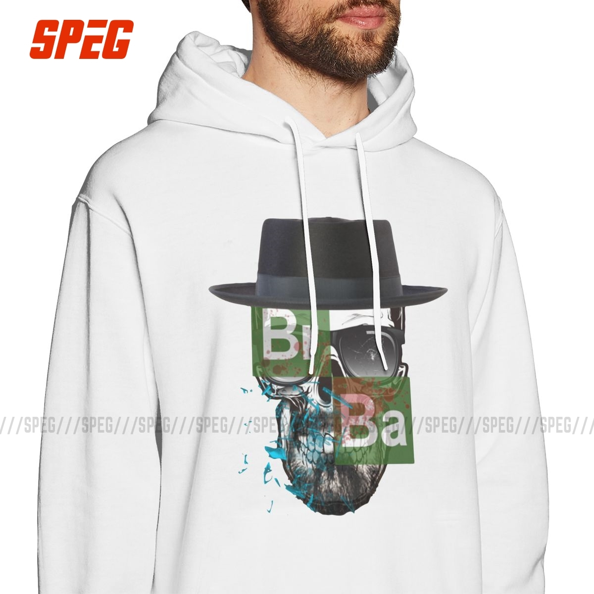 Hooded Sweatshirt BREAKING BAD SKULL