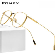 Fonex Оправа для очков из чистого титана мужчин и женщин 2020
