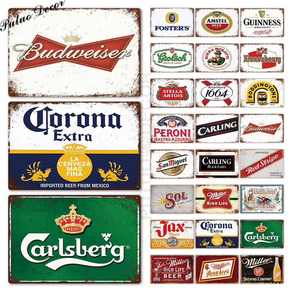 Beer Metal Sign Plaque Metal Vintage Pub Tin Sign Metal Plate Wall Decor for Bar Pub Club Man Cave Decorative Plates