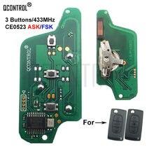 QCONTROL مفتاح بعيد لوحة دوائر كهربائية لبيجو 807 407 308 307 207 CC SW خبير شريك قفل الباب التلقائي (CE0523 ASK/FAK) 3 أزرار