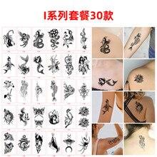 30pas/lotthe mais recente tatuagem adesivos homem e w \ women amor simulação geométrica animal à prova dwaterproof água durável pequeno fresco