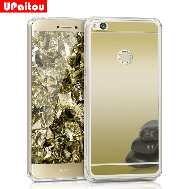 UPaitou Mirror Case for Huawei P8 Lite <font><b>2017</b></font>/P9 Lite <font><b>2017</b></font>/Honor 8 Lite/<font><b>GR3</b></font> <font><b>2017</b></font>/TPU Case Acrylic + Soft Silicone Back Cover Case image