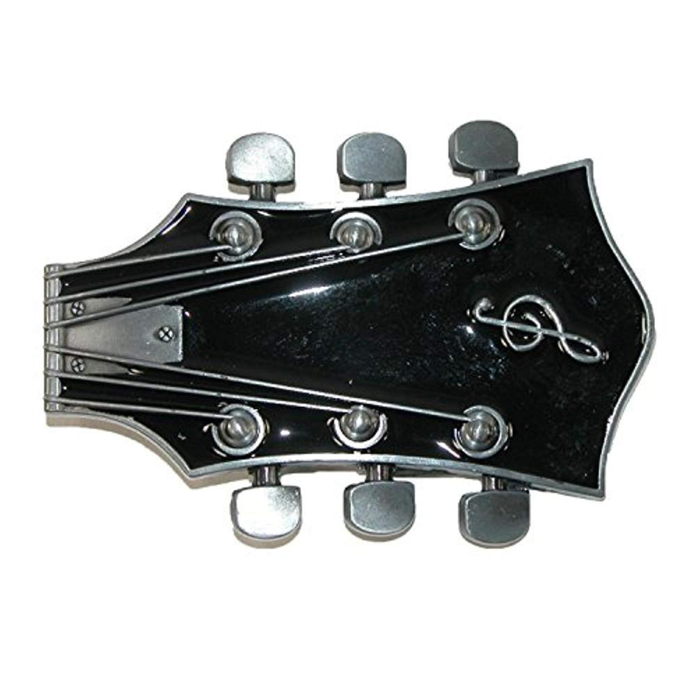 Guitar Shape Belt Buckle For Man Western Cowboy Buckle Without Belt Custom Alloy Width 4cm