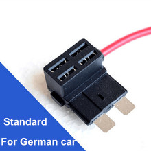Holder Dual-Circuit-Adapter-Holder ATO Add-Circuit for Car Truck Fuse-Box 4pcs Back-Tap