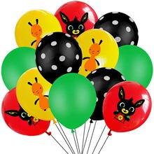 Bing flop tema látex balão bolinhas balão feliz festa decoração festa de aniversário decoração suprimentos crianças globos de ar brinquedo