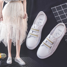 2019 Autumn New Child Casual Shoes Girls Hollow Out Network Noodles Soild Embroidered Breathable Small White PU