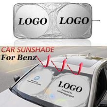 High Quality Car Front Windshield Visor Cover Sun Shade UV Protection Car Sunshade For Mercedes Benz AMG Logo Auto Accessories