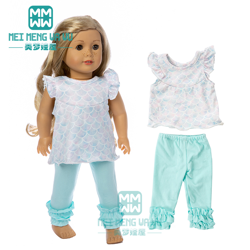 Clothes For Doll Fit 45cm American Doll Accessories Leisure Home Set, Princess Dress