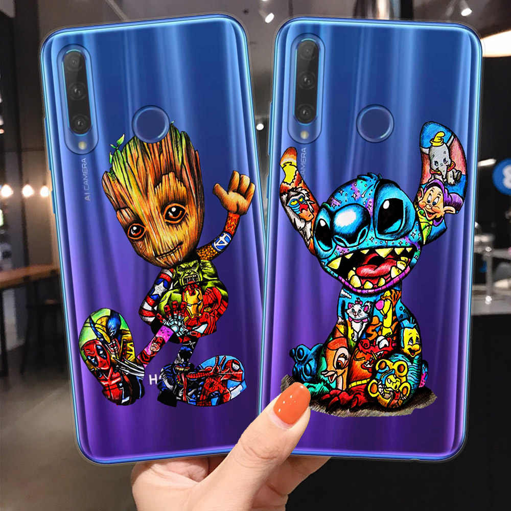 Joker Minnie Stitch Marvel untuk Fundas Huawei Honor 9 10 20 Lite Pro 10i 8X 8C 9X Pro Ponsel Case cover Coque Deadpool Shell Tas