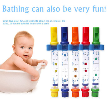 j andersen 24 etudes for flute op 15 Colorful Water Flute Kids Puzzle Early Education Bathroom Baby Bath Toy For Children Play Water Music Flute Shower Toys