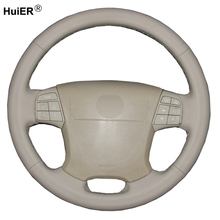 Hand Sewing Car Steering Wheel Cover Volant Braid Funda Volante For Volvo S80 2006 2007 2008 2009 XC70 2007 2008 -2010 V70 2009