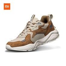 Xiaomi Youpin zapatos de cuero Retro de moda Vintage costura antideslizante zapatos casuales cómodos rebote hombres zapatos para correr