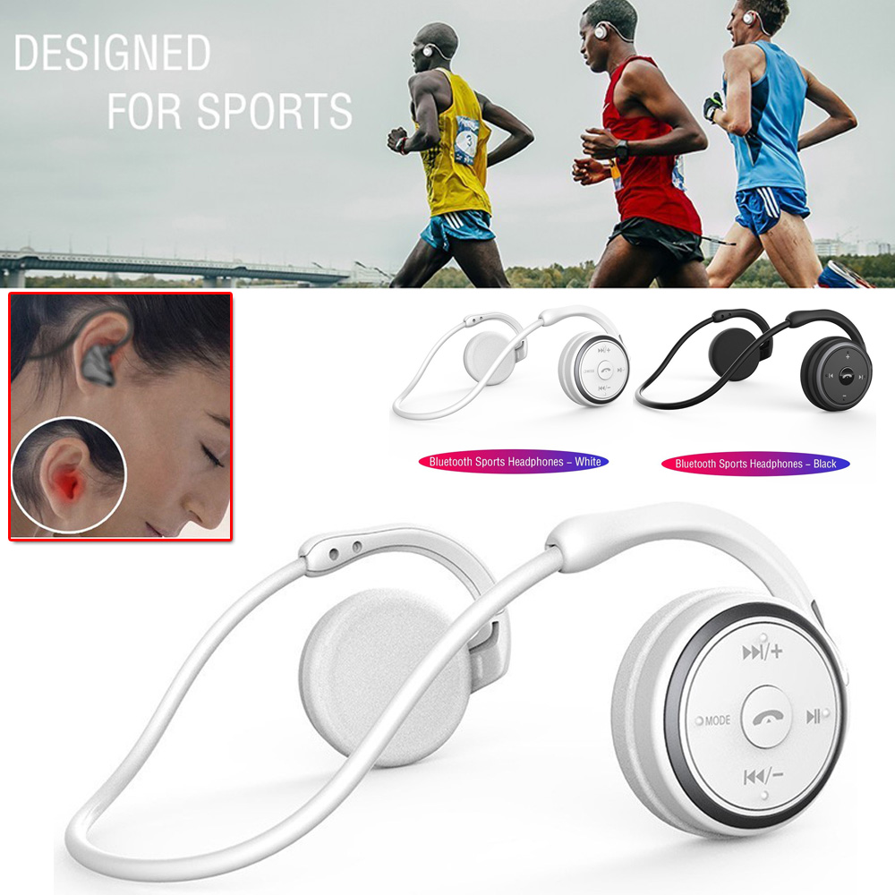 A6 Bluetooth 5 0 Sports Headsets Portable Wireless Headphones Hi-Fi Stereo Sports Running Headphones Portable Bluetooth Headset