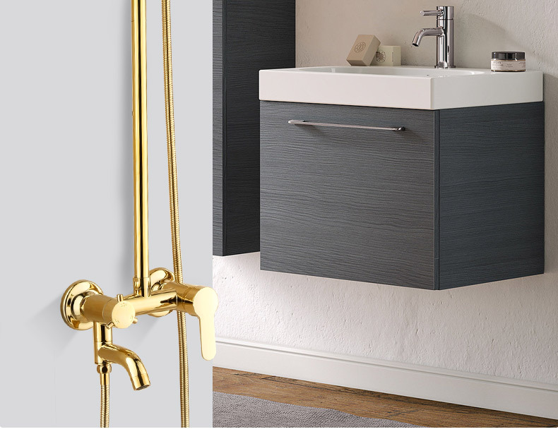 H861e061b48924fa89fef64f654727caat Luxury Shower System Head Tube Shower System Rainfall Gold Shower Faucet Set Torneira Chuveiro Bathroom Accessories Sets BK50HS