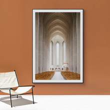Goth Church Corridor Europe Posters And Prints Morocco Wall Art Canvas Painting Wall Pictures For Living Room Decoration