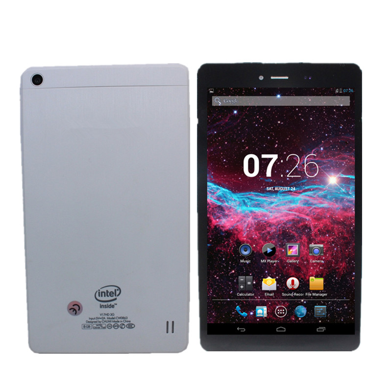 7 Inch  V7 Phone Call 3G Kids Tablet PC GPS Quad Core 1+8GB Android 4.2 1024*600 Intel Atom Z2520 1024*600 IPS