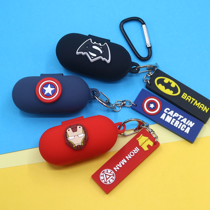 Cartoon Cool Silicone Case For Haylou GT1 Pro Earphone Protective Cover With Keyring GT1 Pro Case Cover
