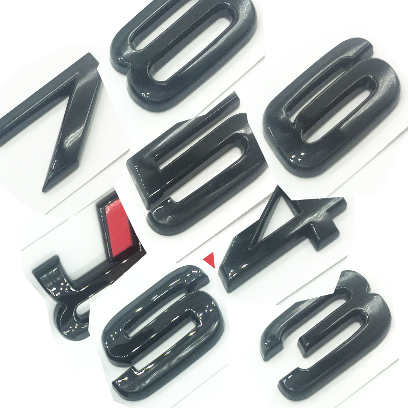 Glossy Black Emblem for Audi S 3 4 5 6 7 8 s3 S4 s5 s6 s7 s8 3D Trunk Logo Badge Compact OEM ABS Nameplate compatible image