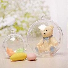 20 шт/10 пар, рождественские подвесные украшения, шар, прозрачное открытое пластиковое прозрачное украшение, Подарочная коробка, вечерние принадлежности