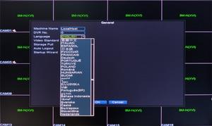 Image 4 - 5mp كاميرا تلفزيونات الدوائر المغلقة لوحة حمراء Hi3521D XMeye 5M N 16CH 16 قناة H265 + الصوت 6 في 1 واي فاي محوري الهجين Onvif XVI NVR TVI AHD DVR