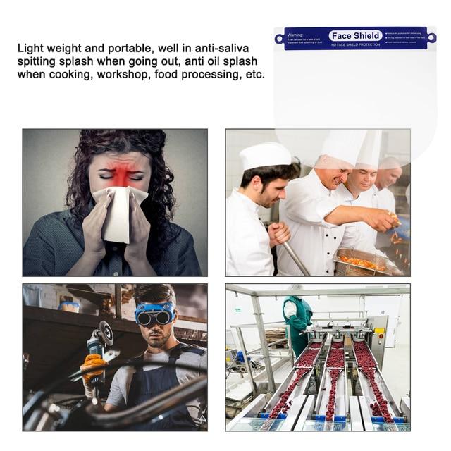 20pcs Transparent Protective Mask Full Face Shield Masks Particulate Respirator Hat Mask Saliva Transmission transparent Masks 5