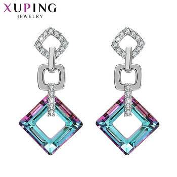 Xuping Exquisite Colorful Earrings High Quality Crystals from Swarovski Color Plated for Women Valentine s Day.jpg 350x350 - Xuping Exquisite Colorful Earrings High Quality Crystals from Swarovski Color Plated for Women Valentine's Day Gifts S89-202