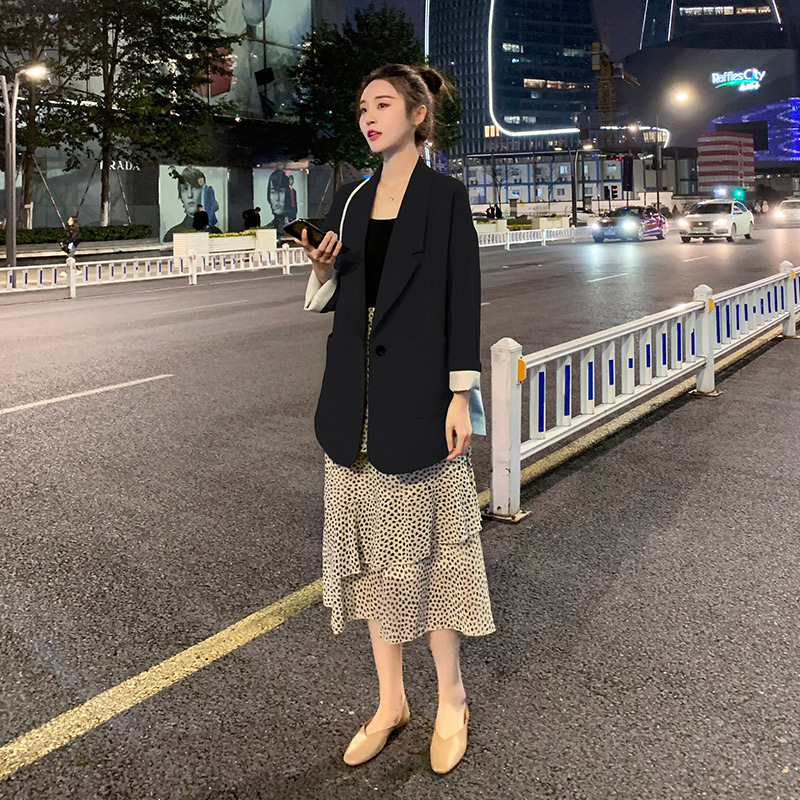 Korean Stylish Ladies Blazer Black Loose Casual Suit Jacket Bleiser Mujer High Street Women Blazer Spring Autumn New MM60NXZ