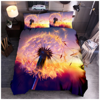 Dandelion Printing Bedding Set Duvet Cover Set 3/4pcs Soft Pillowcases Twin Queen King SIze Bedroom Decor