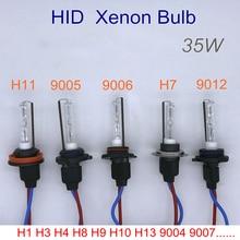 Автомобильный ксеноновый головной светильник, лампа 35 Вт HID 4300K H7 H11 6000K 9012 9005 9006 8000K H1 12V, автомобильная лампа 3600LM Hir2 HB3 HB4, противотуманный светильник