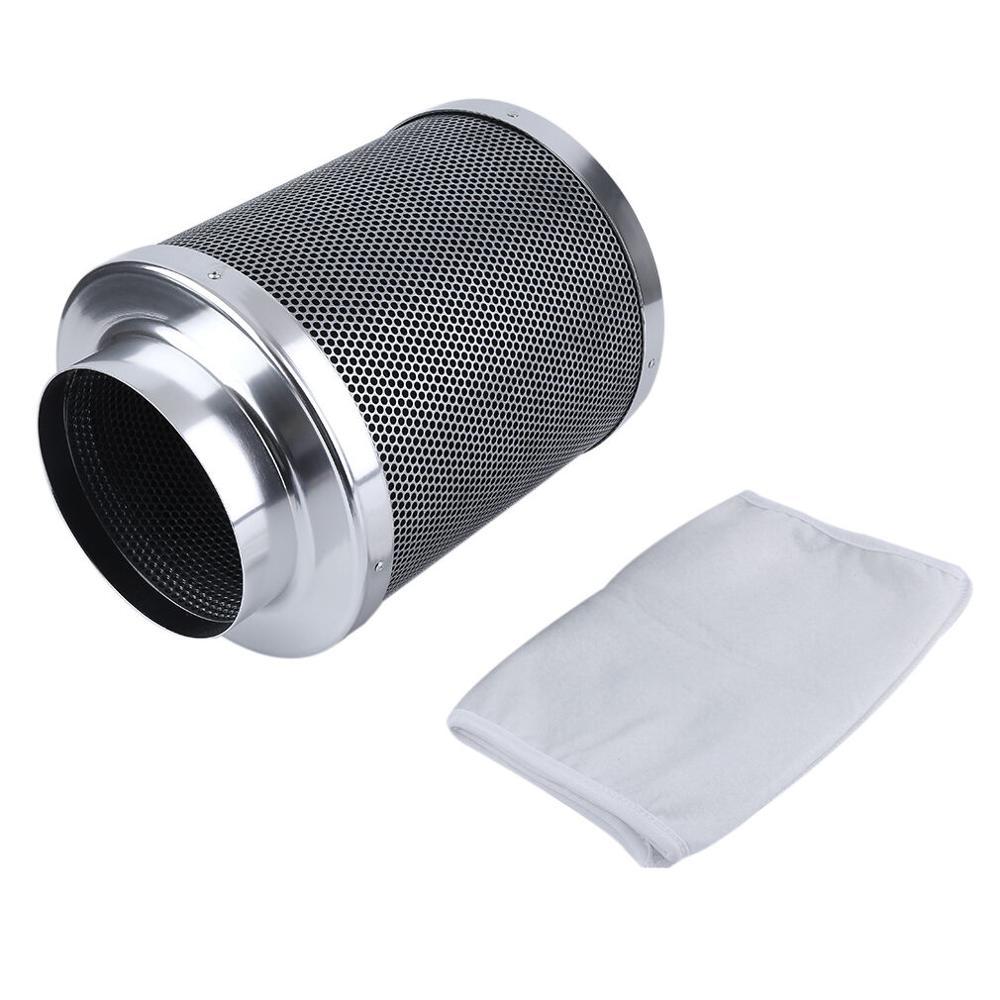 4-дюймовый встроенный вентилятор воздуховода 4 ''воздушный угольный фильтр с австралийским чистым углем очиститель воздуха для выращивания ...