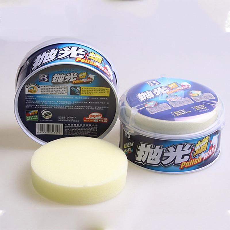 Car Crystal Hard Wax Paint Care Waterproof Coating Wax With 2pcs Free Sponge Car Polishing Paste Wax Scratch Repair Paint