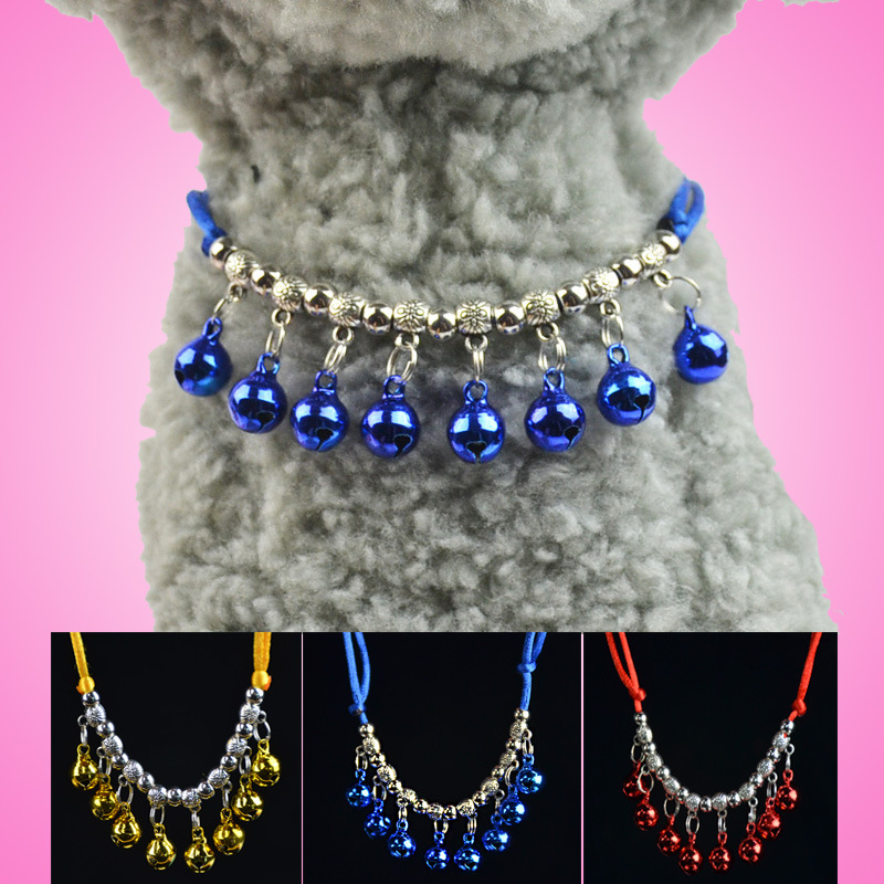 Sleeves Dog Accessories Pet Handmade Weave Bell Neck Ring Cat Bell Neck Ring