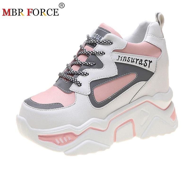 MBR FORCE 2020 mujeres primavera plataforma alta altura aumento para caminar informal Zapatos mujer Zapatillas con cuña oculta mujer suela gruesa Zapatillas Xiaomi Mijia originales 3 para hombre, calzado deportivo para exteriores, sistema de bloqueo de espina de pescado 3D, zapatillas para correr tejidas para hombre