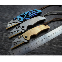 Copper/Titanium Paper Cutter Knife Utility Knife Unpacking EDC Folding Knife Universal Multi Trapezoidal Blade