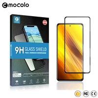Mocolo 2.5D 9H templado de pantalla completa película de vidrio para teléfono móvil Poco X3 NFC Pro PocoX3 X3Pro X3NFC X 3 128/256 GB de protección