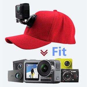 Image 2 - قماش قبعات بيسبول قبعة ل Gopro بطل 7 6 5 الأسود Dji Osmo J هوك مشبك جبل ل شاومي يي الذهاب برو 7 8 Sjcam Eken اكسسوارات