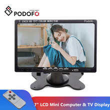 "Podofo 7"" LCD Monitors HD LCD Mini Computer & TV Display CCTV Security Surveillance Screen With HDMI / VGA / Video / Audio Input"