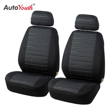 AUTOYOUTH Front Car Seat Covers Airbag Compatible Universal Fit Most Car SUV Car Accessories Car Seat Cover for Toyota 3 color 1