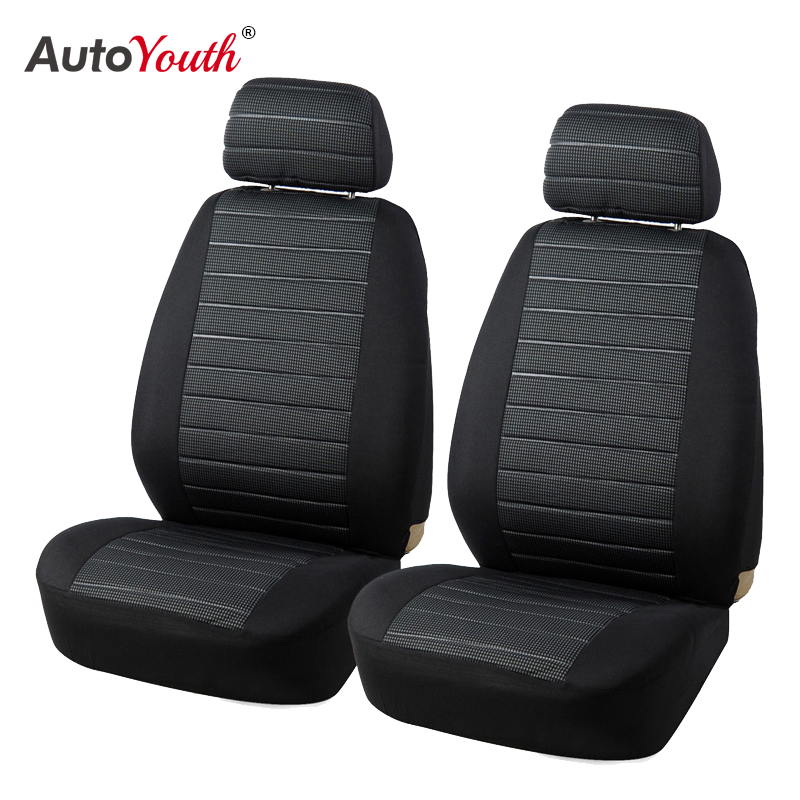 Car Front Seat Covers 2Pcs Breathable Universal Airbag Compatible For Cars SUVS and Trucks Fit-Towel